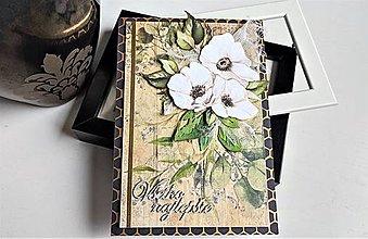 Papiernictvo - Všetko najlepšie kvetinková pohľadnica - 13346455_