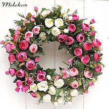 Dekorácie - Celoročný veniec - Ružová dúha - 13345985_