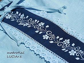 Topy - Blúzka modrotlač jednofarebná - 13346449_