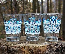 Iné - Ručne maľované poháriky ľudové - 13347091_