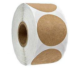 Papier - NA156 Nálepka béžová natur 2,5 cm (Béžová) - 13345974_