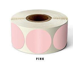 Papier - NA156 Nálepka béžová natur 2,5 cm (Ružová) - 13345984_