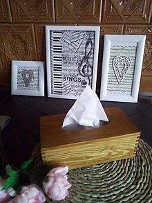 Krabičky - Krabička na kapesníky rustic dub - na přání - 13347842_