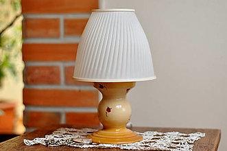 Svietidlá a sviečky - Stolná lampa z keramiky- Ružičková - 13345973_