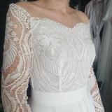 Šaty - Svadobné šaty s holými ramenami - 13346874_