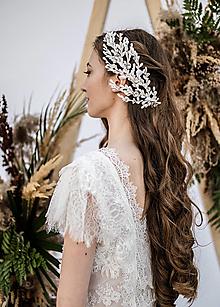 Šaty - Svadobné šaty z francúzskej krajky s nariaseným rukávom SKLADOM - 13349242_