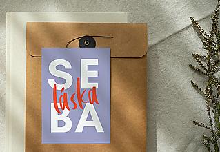 Papiernictvo - pohľadnica / kolekcia SEBALÁSKA (sebaláska) - 13346225_