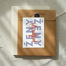 Papiernictvo - pohľadnica / kolekcia SEBALÁSKA (ženy podporujú ženy) - 13346232_
