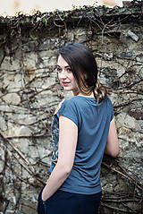 Topy - Tričko s autorským potiskem Old Town - 13347540_