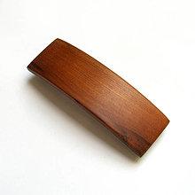 Ozdoby do vlasov - Drevená spona do vlasov - slivková veľká - 13347119_