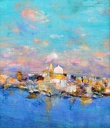 """Obrazy - Arttexový obraz """"Mesto v objatí mora"""" - 13349399_"""