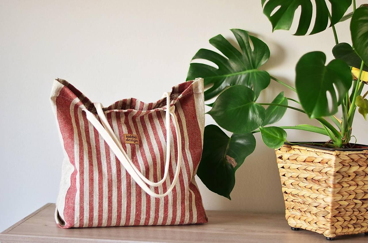 Lina (ľanová taška) bordová