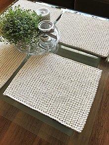 Úžitkový textil - Prestieranie na stôl (Ecru) - 13351508_