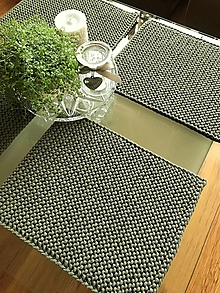 Úžitkový textil - Prestieranie na stôl (Olivová tmavá) - 13351578_
