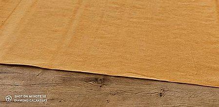 Textil - Ľan (Horčicový) - 13349583_
