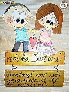 Tabuľky - Menovka - dvojica - 13352150_