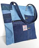 Nákupné tašky - Rifľová taška - 13351339_
