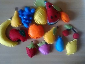 Hračky - ovocie z filcu- pre deti do detskej kuchynky - 13350487_