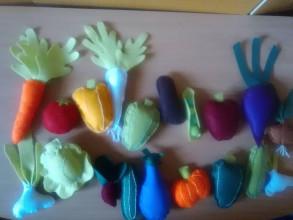 Hračky - zelenina z filcu- pre deti do detskej kuchynky - 13350518_