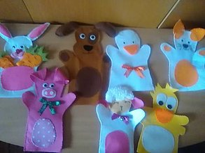 Hračky - Maňušky veľké -na celú ruku - 13351735_