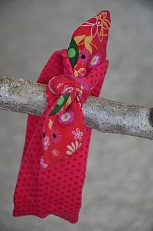 Detské čiapky - Detská čelenka (Bordová 36-40 cm, šírka 6 cm) - 13351946_