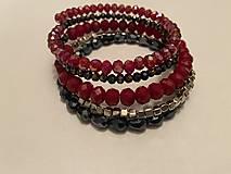Náramky - MultiLayer náramok Red Wine/ MultiLayer bracelet Red Wine - 13351320_