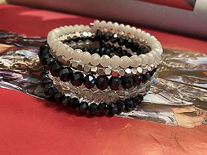 Náramky - MultiLayer náramok Dark Night /MultiLayer bracelet Dark Night - 13351429_