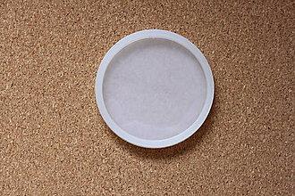 Pomôcky/Nástroje - Silikónová forma priemer 8 cm na výrobu živicových podšálok - 13350201_