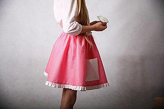 Detské oblečenie - Ružová suknička s vreckami (veľ.128) - 13351682_