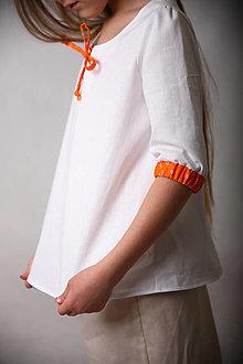 Detské oblečenie - Jemná dievčenská tunika (veľ.122) - 13351905_