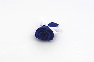 Pierka - Pierko tmavomodro-biele ruža - 13350980_