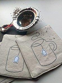"""Úžitkový textil - Podložky pod nápoje """"čaj"""" - 13352729_"""