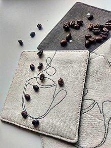 """Úžitkový textil - Podložky pod nápoje """"káva"""" - 13352760_"""