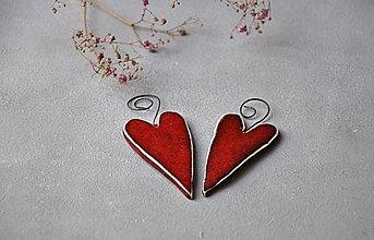 Dekorácie - srdce farebné malé - 13351449_