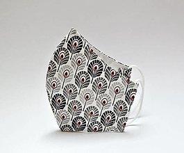 Rúška - Dvojvrstvové rúško tvarované - Pávie očko - 13351974_