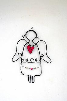 Dekorácie - Anjelik ružový* 13 cm - 13351235_