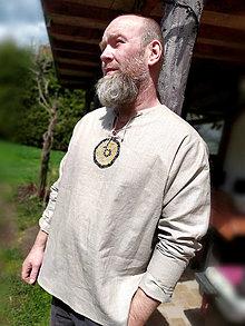 Oblečenie - Pánska ľanová košeľa - 13351170_