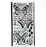 Pomôcky/Nástroje - Šablóna Stamperia - 12x25 cm - motýle, písmo - 13354533_