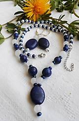 Sady šperkov - Lapis lazuli - nefrit - 13354962_
