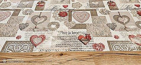 Obalový materiál - PVC obrus (What is Love) - 13355238_