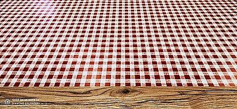 Obalový materiál - PVC obrus (Karo červené) - 13355244_