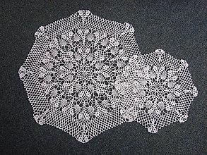 Úžitkový textil - háčkované obrúsky - 13355347_