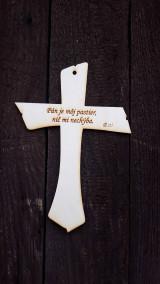 Dekorácie - Sviečka s krížikom - set - 13354493_