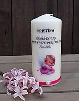 Dekorácie - Pamiatková sviečka a anjelik - 13354534_