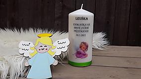 Dekorácie - Pamiatková sviečka a anjelik - 13354536_