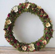"""Dekorácie - Kvetinový veniec """"Lesný"""" - 13355153_"""
