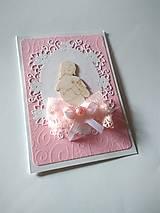 Papiernictvo - pohľadnica 1. sväté prijímanie pre dievčatko - 13354510_