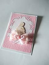 Papiernictvo - pohľadnica 1. sväté prijímanie pre dievčatko - 13354513_
