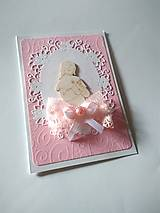 Papiernictvo - pohľadnica 1. sväté prijímanie pre dievčatko - 13354514_