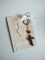 Papiernictvo - pohľadnica 1. sväté prijímanie pre chlapca s darčekom - 13354551_